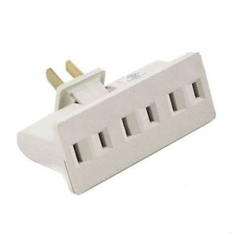 grounded light socket adapter 3 outlet grounded ac power 2 prong swivel light wall tap