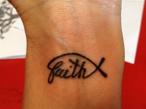 small cross wrist tattoos faith tattoos