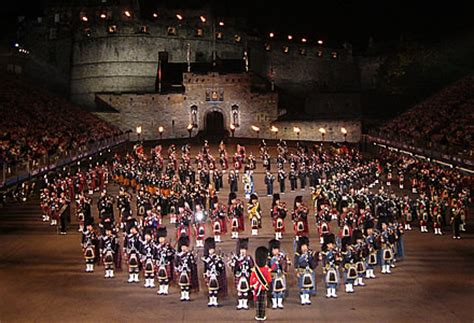 edinburgh tattoo pipes and drums edinburgh tattoo military display outside edinburgh castle