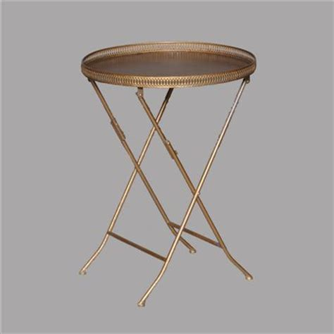 gold metal end table gold distressed metal end table