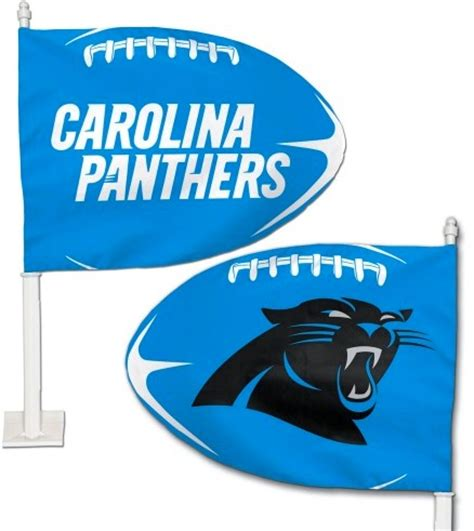what colors are the carolina panthers carolina panthers nfl team colors football shaped car flag