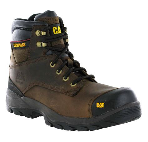 Caterpillar Boots Safety 37 mens caterpillar spiro brown leather steel toe cap work
