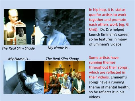 musical themes cannot represent real conventions of a hip hop music video
