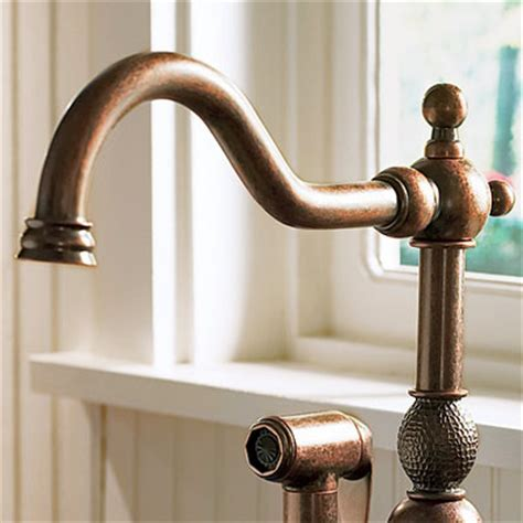 copper faucet kitchen finish copper all about kitchen faucets this old house