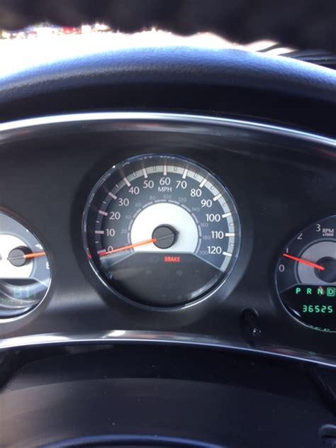 chrysler 200 warning lights brake light on dash