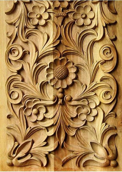 carved flowers  floral patterns woodcarving classic
