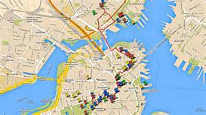 Boston Freedom Trail Map by Boston Freedom Trail Map Www Galleryhip Com The