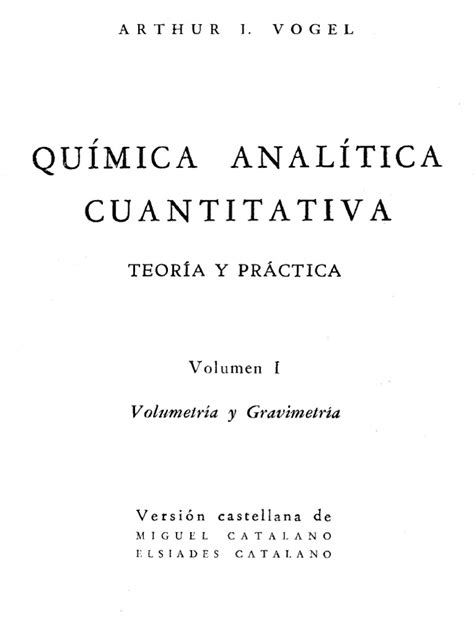 libro vogel quimica analitica pdf qu 237 mica 237 tica cuantitativa vogel