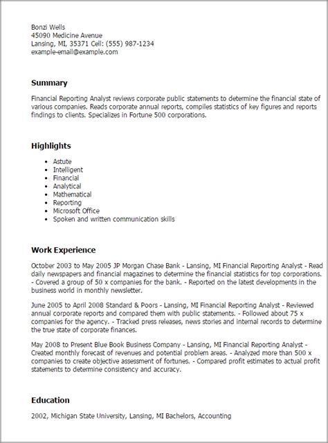Sle Resume Reporting Analyst 28 sle cover letter for financial analyst enernovva org