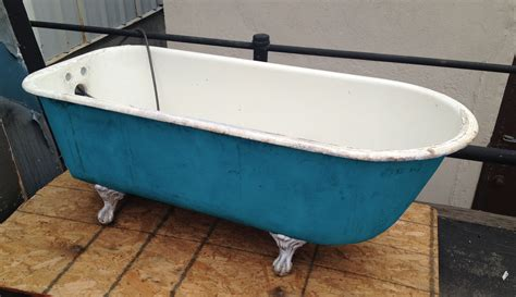 what to do with an old bathtub ordinary desaign old bath tub with blue and white color