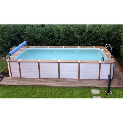 con piscine piscina fuori terra con rivestimento in pannelli in pvc