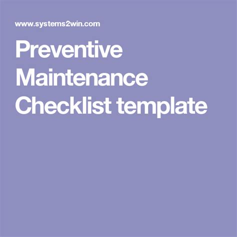 maintenance schedule template microsoft excel templates