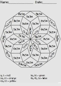 Multiplication Cootie Catchers Fortune Tellers Orgami Math Coloring Pages For Middle School