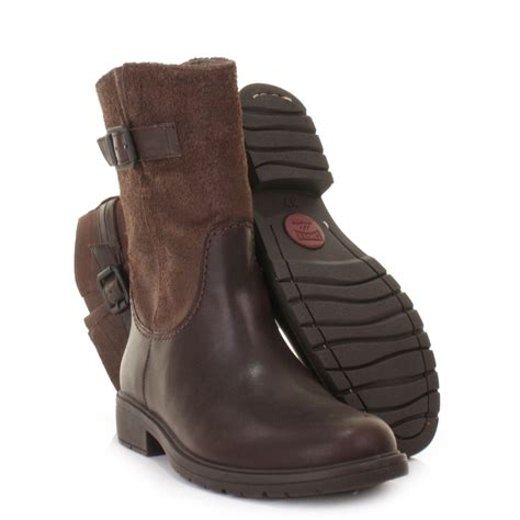 womens brown leather biker boots womens cer 1900 land brown leather biker casual ankle