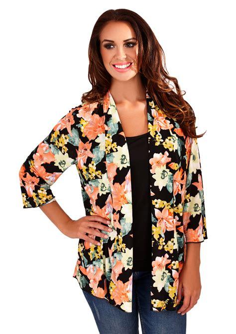 Blouse Jaket womens kimono boho cardigan cape floral summer jacket