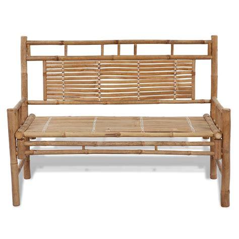 bench with backrest uk vidaxl co uk vidaxl bamboo bench with backrest