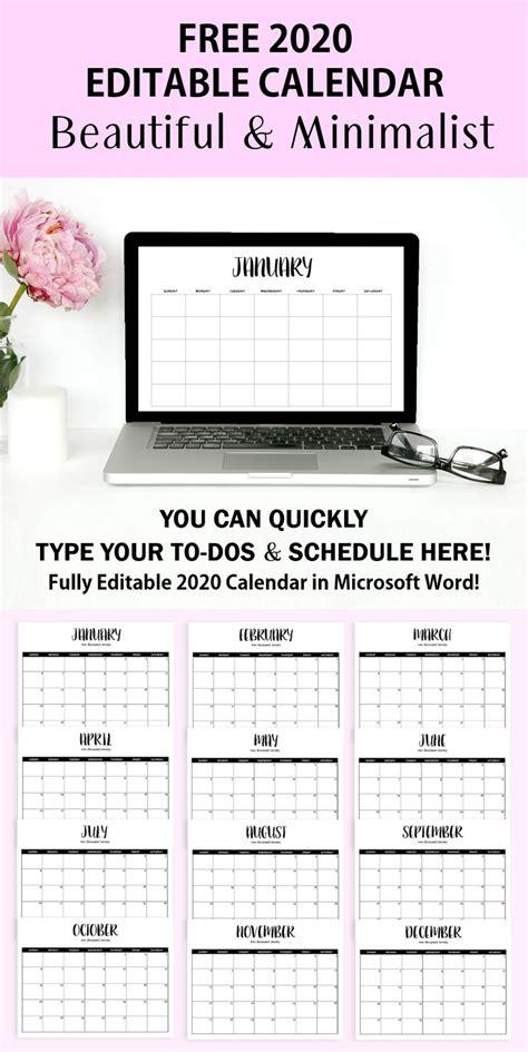 fully editable  calendar template  word shining mom printables printable day
