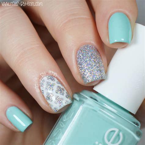 quatrefoil nail art tutorial blue and silver quatrefoil nails nail art by erin