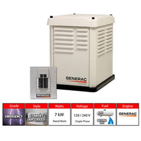 generac 5837 7 kw 120 240v liquid propane gas home
