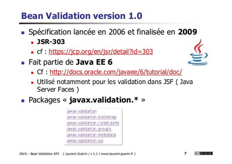 pattern javax validation bean validation cours v 1 1