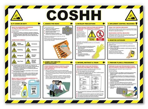 Poster Note Isi 8 40 X 20 Cm coshh safety poster laminated 59cm x 42cm