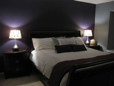 deep purple and grey bedroom accent wall purple grey master bedroom bath pinterest