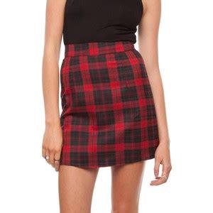 A Line Plaid Skirt a line plaid skirt fashion skirts