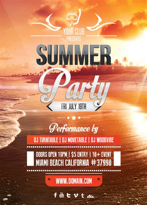 summer event flyer template summer flyer template by vectormediagr on deviantart