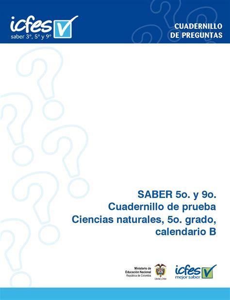 Calendario A Y B Diferencia Prueba De Ciencias Naturales Grado 5 Calendario A