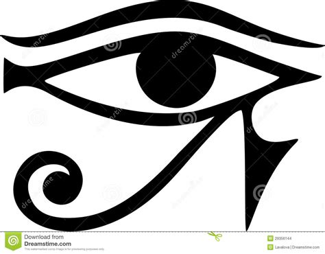 eye of horus reverse eye of thoth stock images image