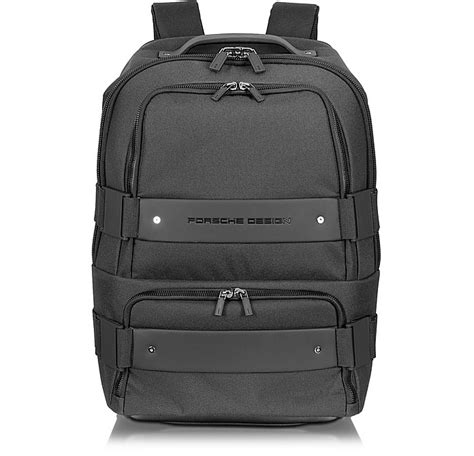 Porsche Design Rucksack by Porsche Design Twin Backbag Black Backpack Carry On