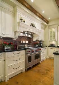 pictures of backsplashes in kitchens kitchen brick backsplashes for warm and inviting cooking
