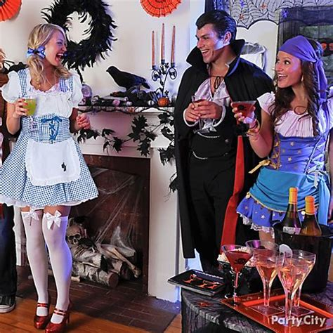 party themes for adults dress up frightfully fun halloween party ideas for adults party city