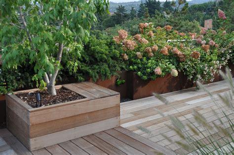 vasi per terrazze vasi in corten fioriere in corten vasi da giardino