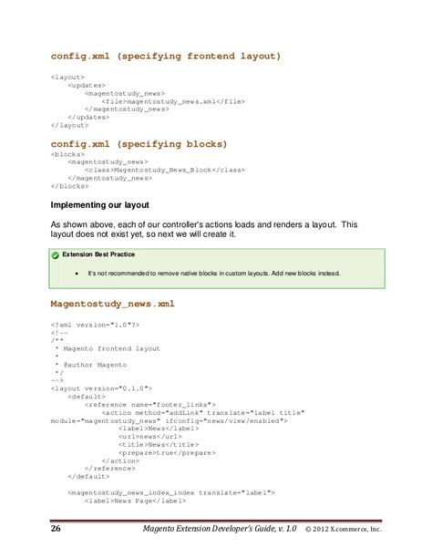 magento layout update config xml magento extension developers guide v1 0