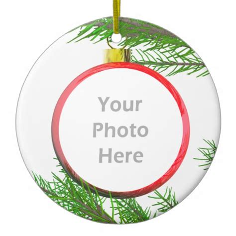 merry christmas tree decoration photo frame double sided
