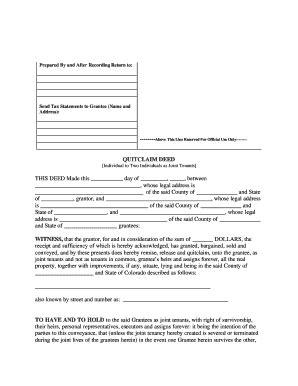 printable quit claim deed colorado bill of sale form colorado warranty deed form templates