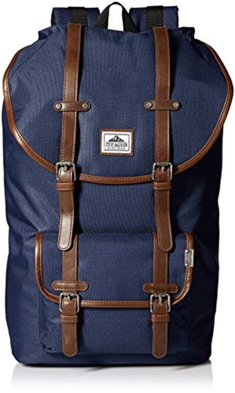 steve madden s solid utility backpack navy one size frenzystyle