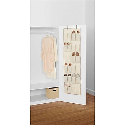 familife 24 pockets the door real simple 174 24 pocket the door shoe organizer in