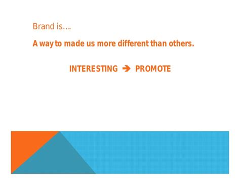 Branding Notes For Mba by Personal Brand Ppt Mba Chaa