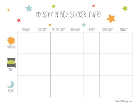 printable reward charts for sleeping 10 best images of sleep sticker chart sleep reward chart