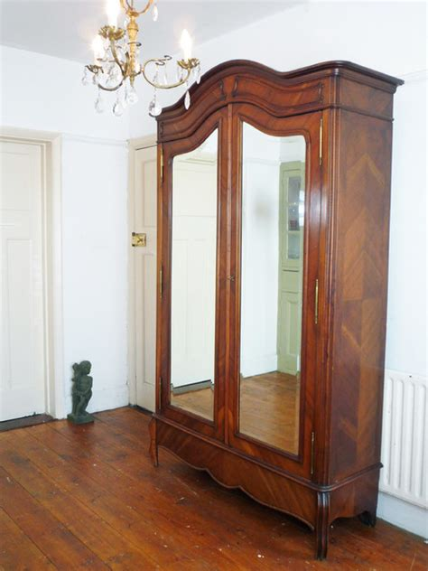 french style armoires wardrobes napoleon style double mirror door french armoire