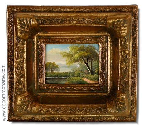 cuadros antiguos al oleo pareja cuadros al 243 leo paisajes 15x17cm venta pinturas
