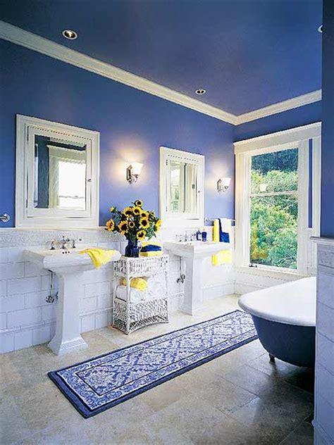 Blue Bathroom Ceiling by The Eye Catching Look Of Cobalt Blue Decor Megan Morris