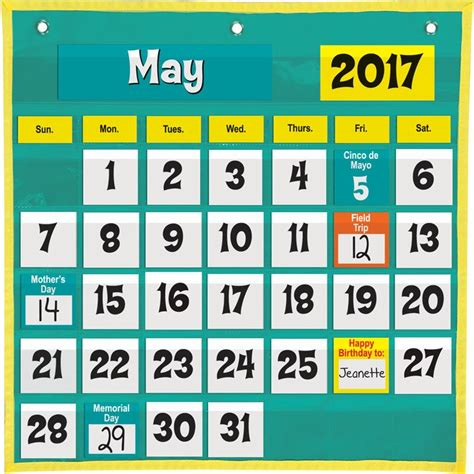how to make a pocket calendar space saver calendar pocket chart