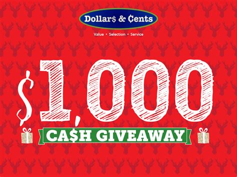 Christmas Cash Giveaway - 1 000 christmas cash giveaway enter to win dollars cents stores