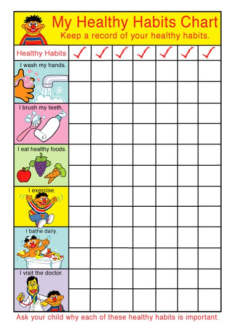 Healthy Habits For Healthy Chart Healthy Habits Chat Health Hygiene And Healthy Habits School Elementary
