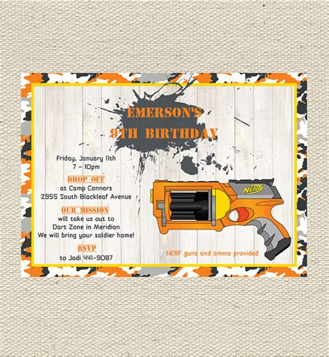 free printable birthday invitations nerf 301 moved permanently