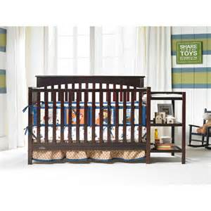 Graco Crib And Changing Table Graco Woodbridge 4 In 1 Fixed Side Crib And Changing Table Combo Espresso Walmart