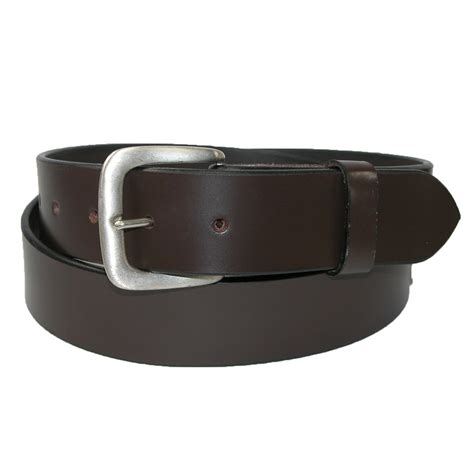 mens leather 1 3 8 inch removable buckle bridle belt by